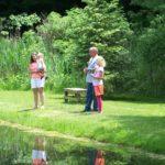 BOROUGH PARK POND | people enjoying the pond