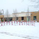 MERRY CHRISTMAS - building exterior snow photo